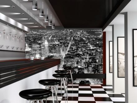 Wall mural wallpaper Black & white cityscape
